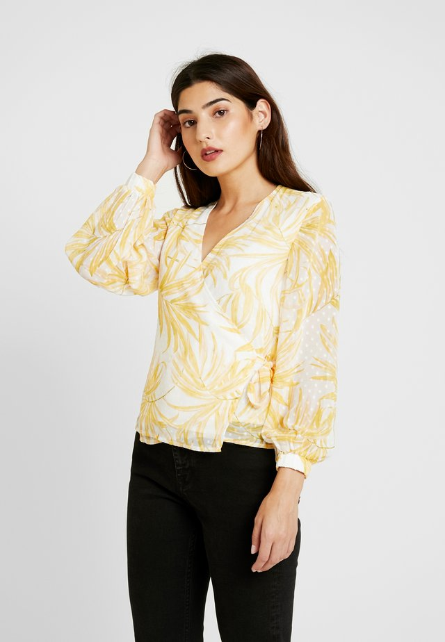OBJVITA WRAP BLOUSE - Bluzka - yellow
