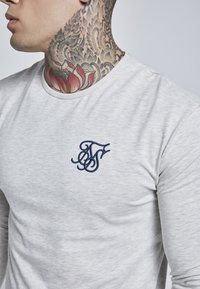 SIKSILK - LONG SLEEVE GYM TEE - Camiseta de manga larga - snow marl - 4