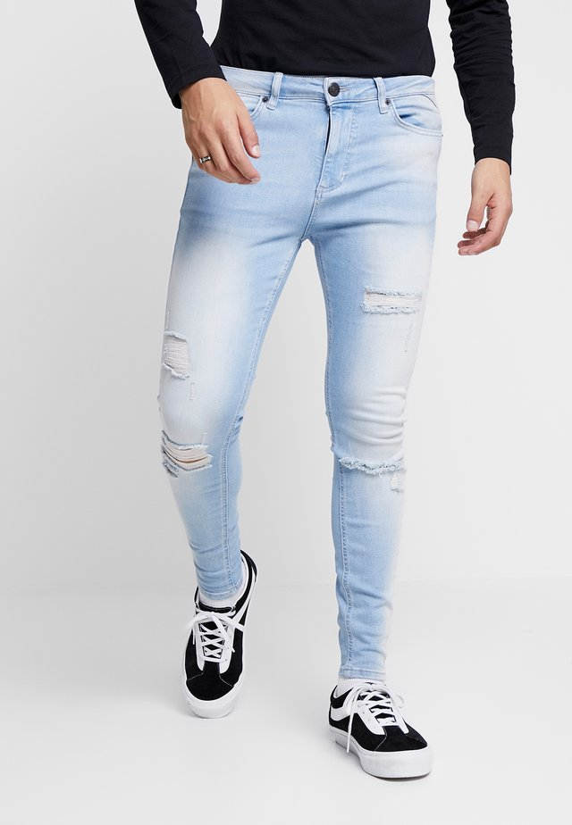 ESSENTIAL DISTRESSED - Jeansy Skinny Fit - stone wash