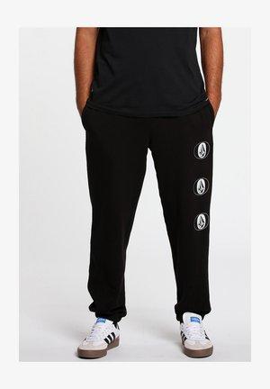 STONE STACK FLEECE PNT - Pantalones - black