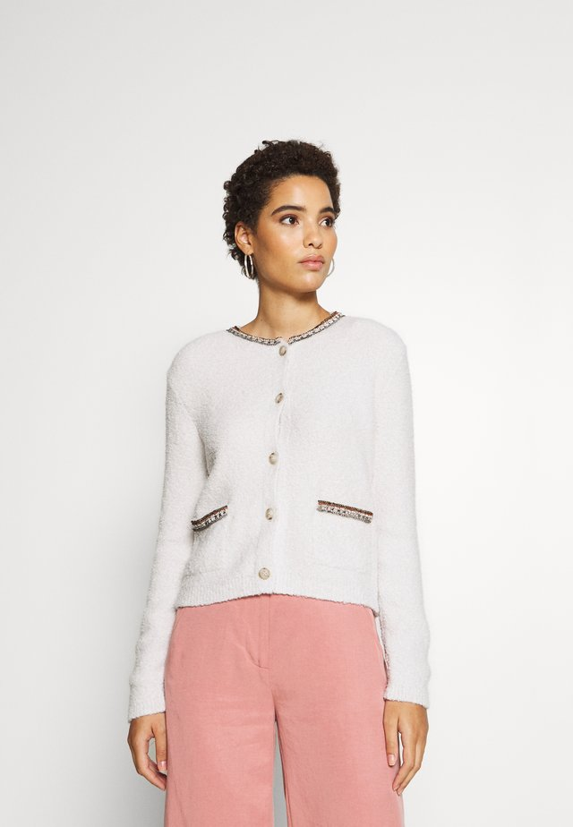 CARDIGAN DETAIL - Neuletakki - off white