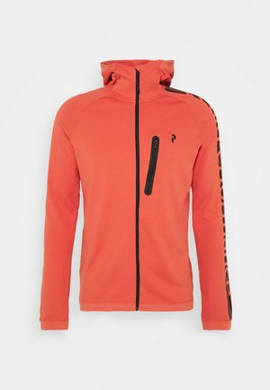 POWER ZIP HOOD - Training jacket - clay red