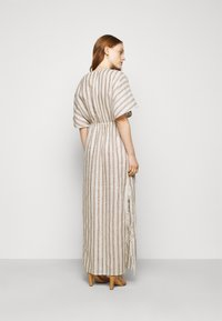 Tory Burch - STRIPED CAFTAN - Maxi dress - ivory/anise brown - 2