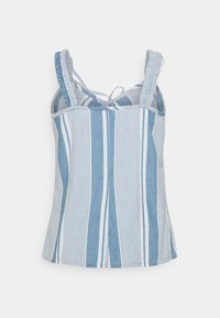 Vero Moda - VMAKELA FLOUN SINGLET - Top - light blue denim/white - 1