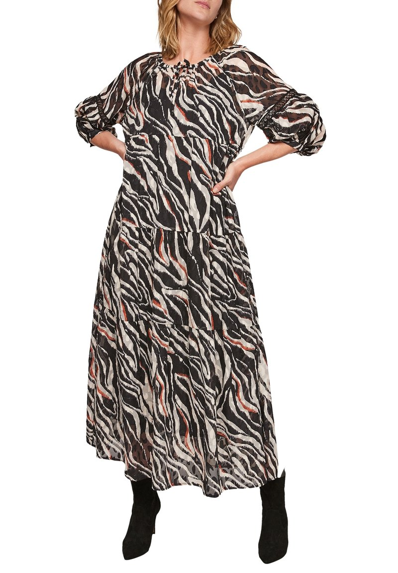 s.Oliver - Maxi dress - black aop