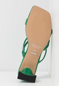 Topshop - DIXIE MULE - Heeled mules - green - 6