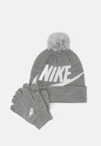 Nike Sportswear - POM BEANIE GLOVE SET - Gloves - grey heather - 0