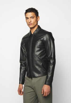 GENTS LEATHER JACKET - Kožená bunda - black