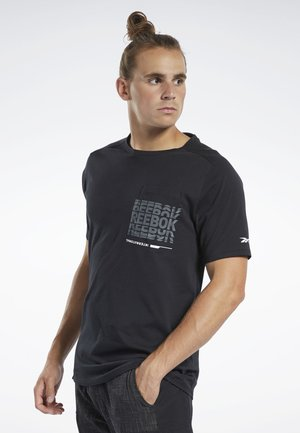TRAINING SUPPLY GRAPHIC POCKET TEE - Print T-shirt - black