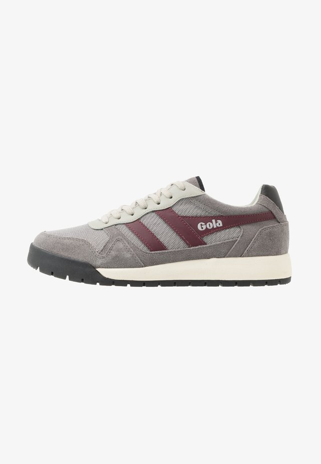 TRECK - Trainers - grey/burgundy/black