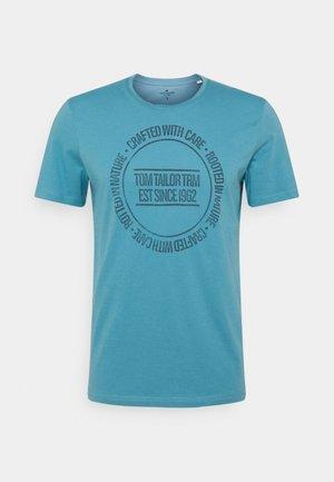 PRINTED - T-Shirt print - smokey aqua