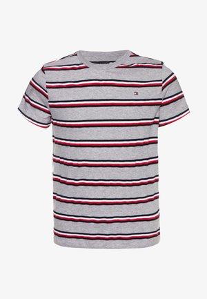 STRIPE - Print T-shirt - grey