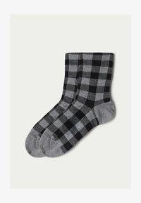 grau  grey gingham print