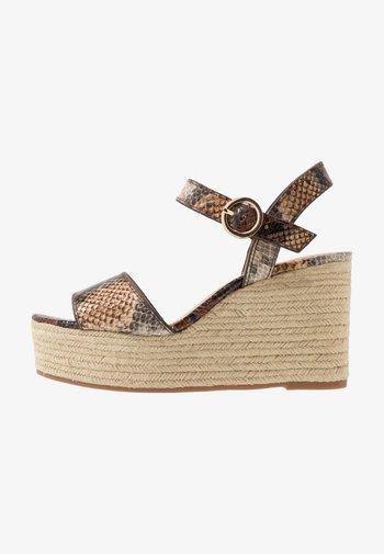 Sandály na vysokém podpatku