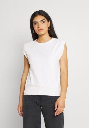 PADDED SHOULDER - T-shirt imprimé - off white