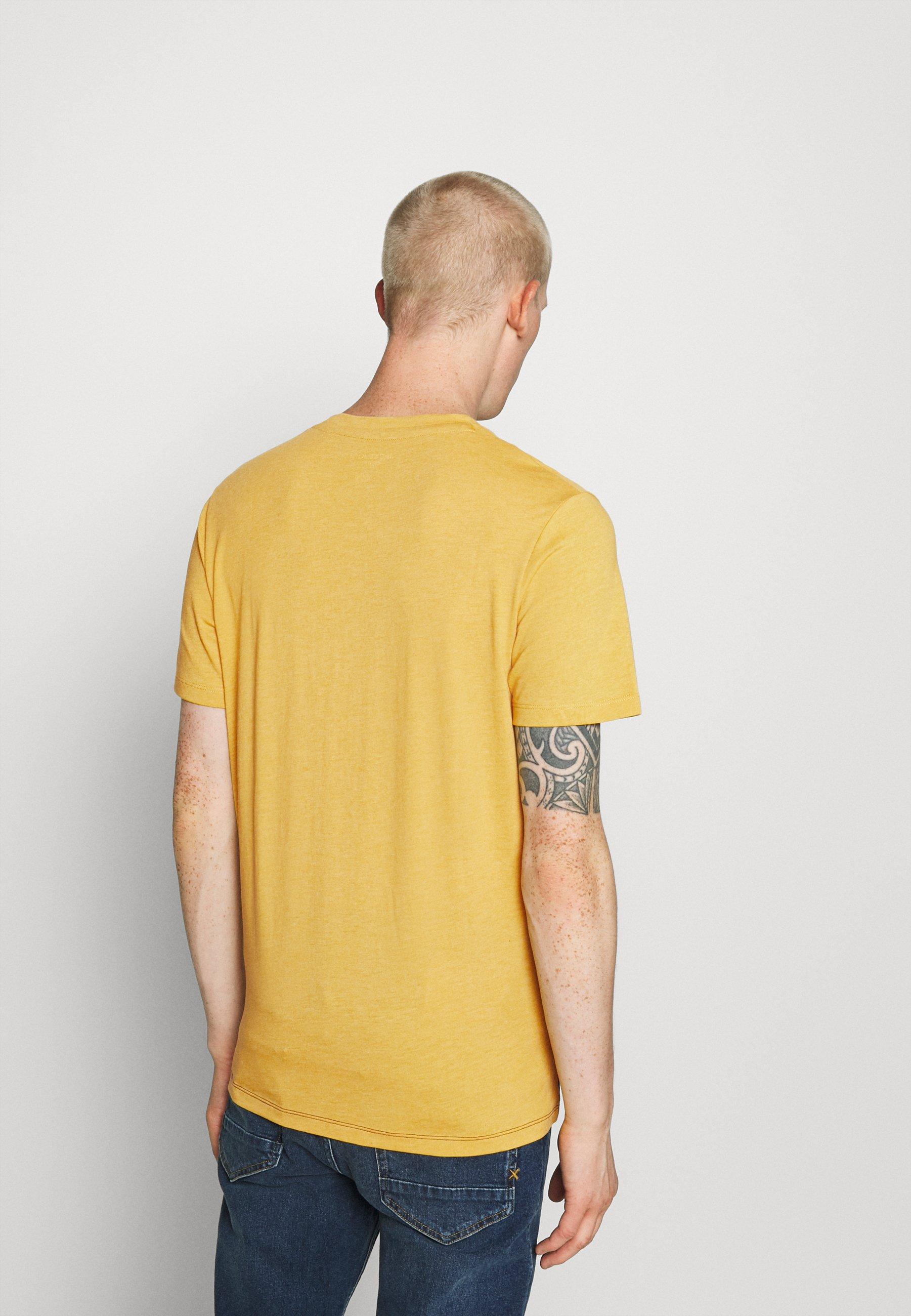 Jack & Jones JORSTATION - Print T-shirt - spicy mustard gmNy3