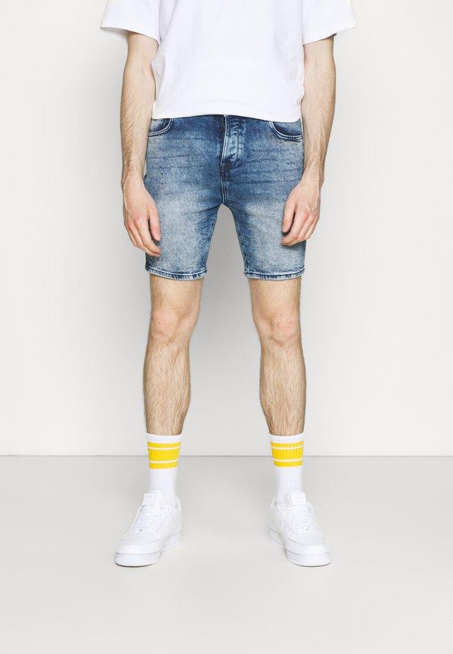 HALSALL - Szorty jeansowe - light blue