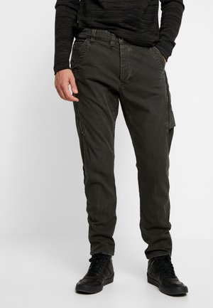 3D CARGO SLIM TAPERED - Cargo trousers - asfalt