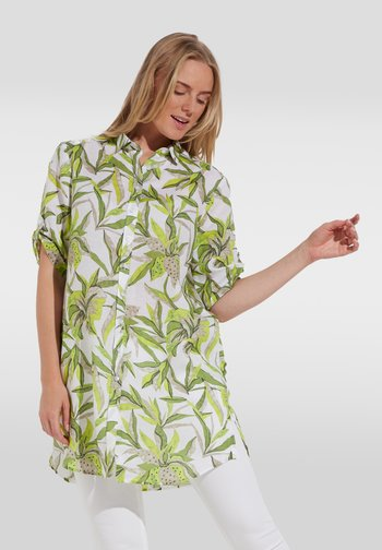MODERN CLASSIC - Button-down blouse - grün/weiss