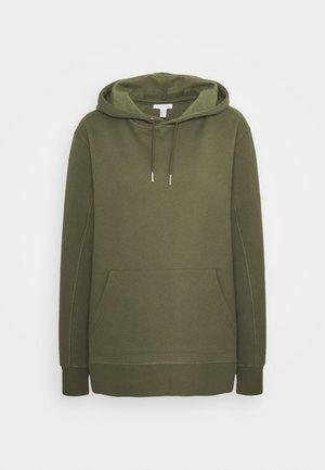 OVERLOCK HOODIE - Sweatshirt - olive