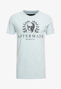 AFTERMATH - WITH SKULL AND STUDDED ARMS - T-shirt print - sky blue - 5