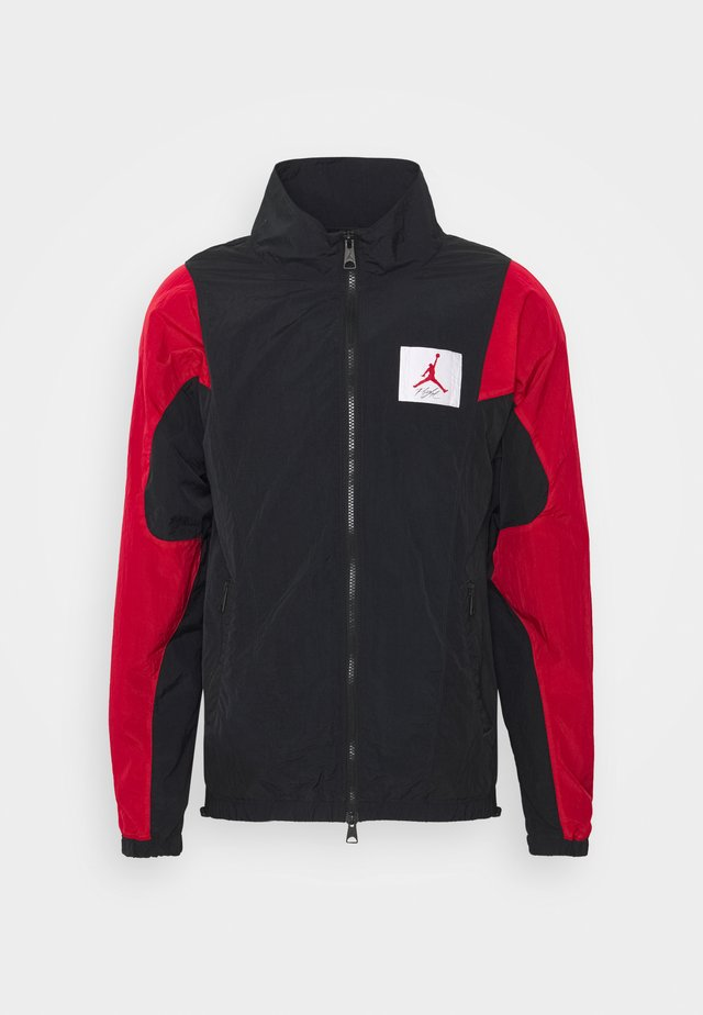 Training jacket - black/gym red