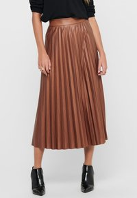 ONLY - PLISSEE - A-line skirt - ginger bread - 0