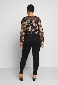 Dorothy Perkins Curve - WASHED ALEX - Jeans Skinny Fit - black - 2