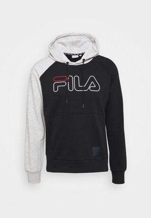 LAURI HOODY - Hoodie - black/light grey melange