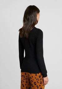 Even&Odd - BASIC- TURTLE NECK JUMPER - Svetr - black - 2