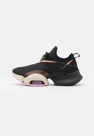 AIR ZOOM SUPERREP - Sports shoes - black/metallic copper/light arctic pink/light orewood brown