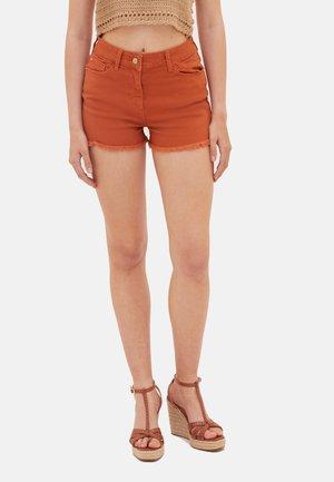 Denim shorts - arancione