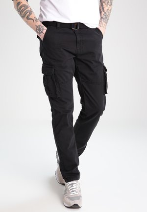 WILLIAM - Pantalon cargo - black