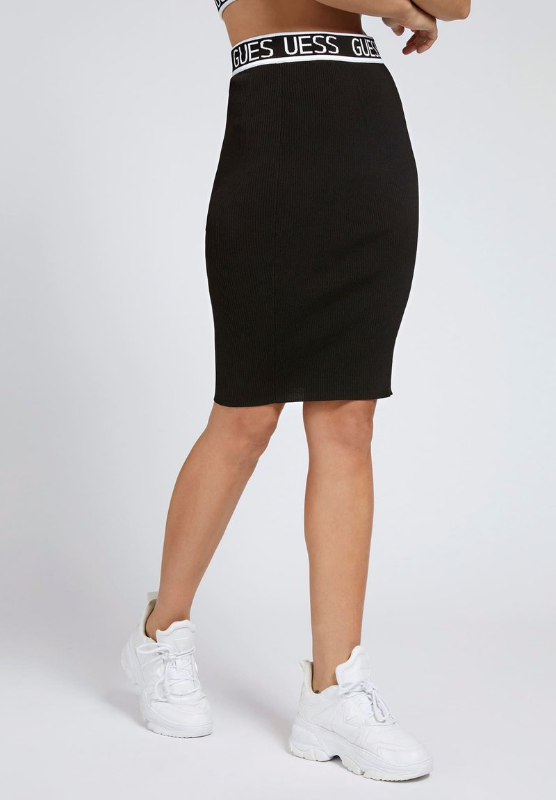 Guess - Pencil skirt - schwarz