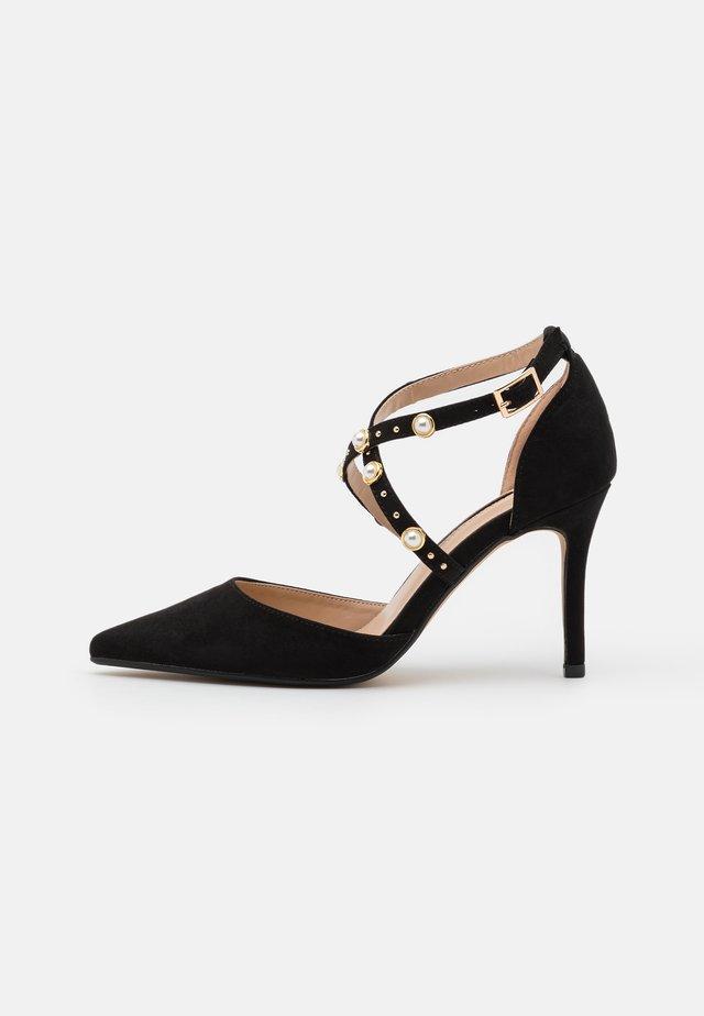 DRAPE CROSS STRAP - Classic heels - black