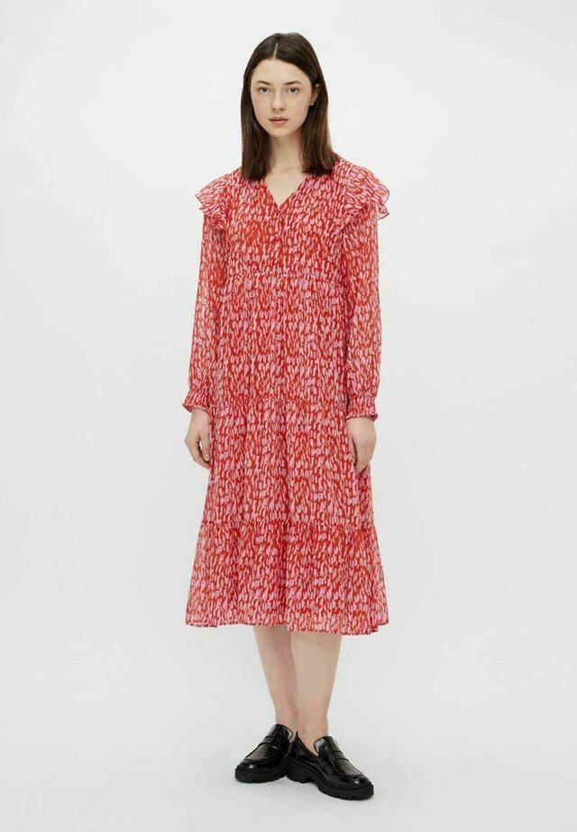 Sukienka letnia - red clay