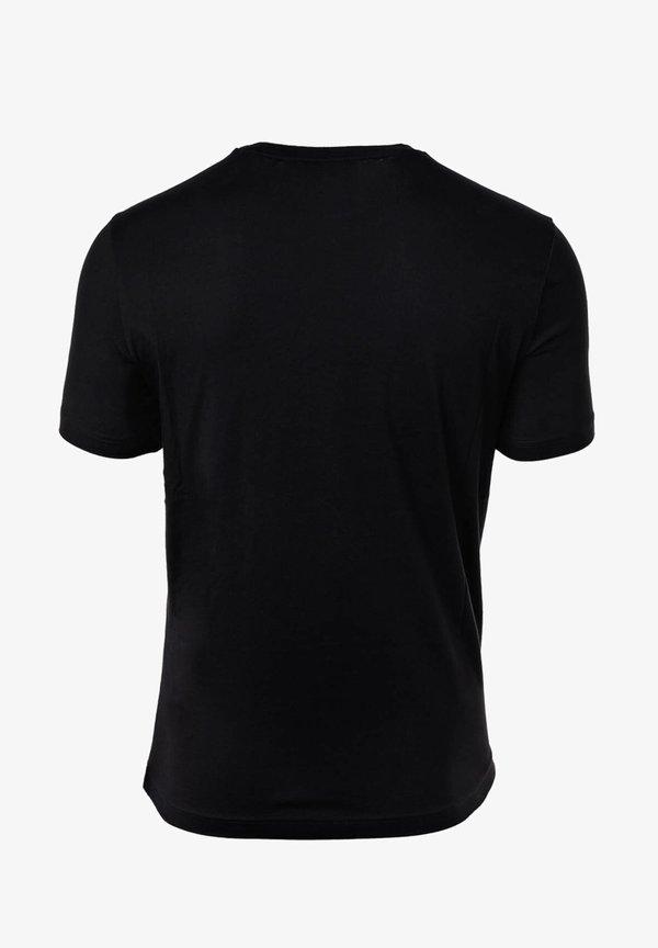 Champion Rochester CREW NECK, RUNDHALS, COTTON - T-shirt z nadrukiem - schwarz/czarny Odzież Męska NWMV