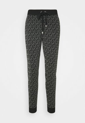 DOT LOGO JOGGER - Tracksuit bottoms - black
