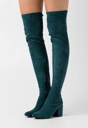 KOLA - Over-the-knee boots - petrol
