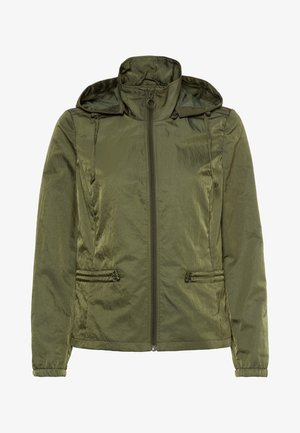 MIT KAPUZE - Light jacket - dark basil