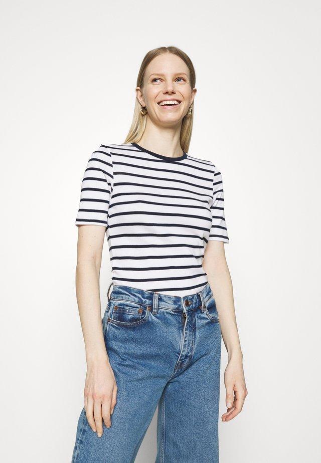 CREW TEE - T-shirt imprimé - off-white