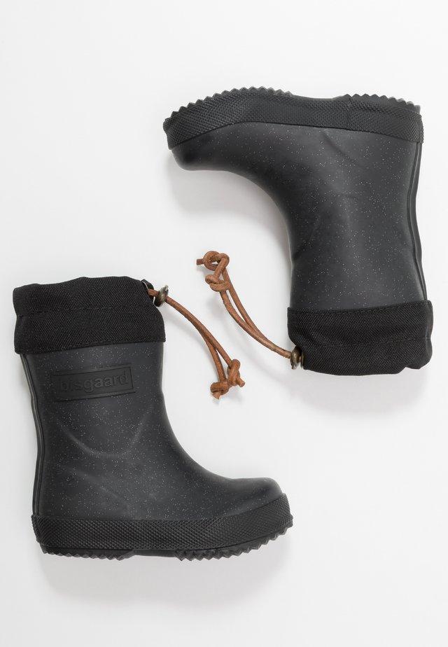 THERMO BOOT - Gummistiefel - glitter/black