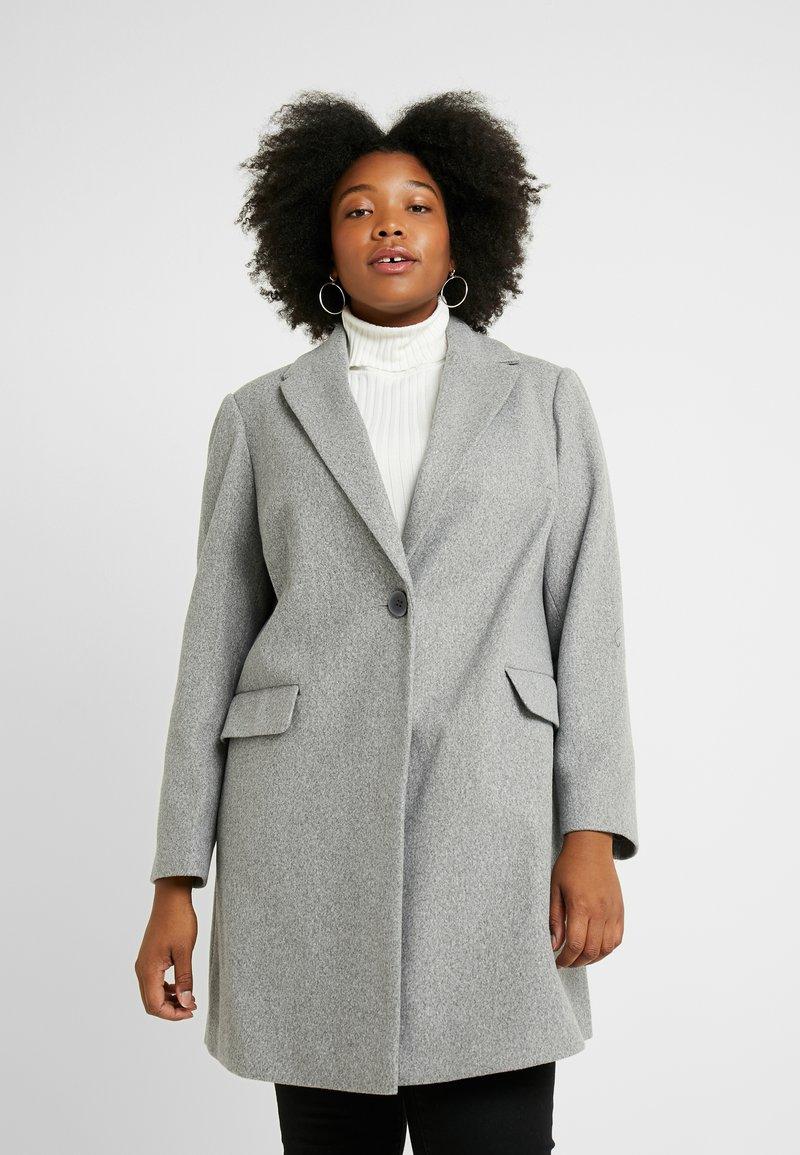 Dorothy Perkins Curve - MINIMAL LINED - Krátký kabát - grey marl