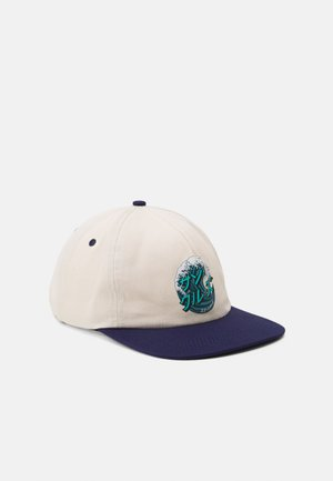 JAPANESE WAVE DOT CAP - Casquette - off white/navy