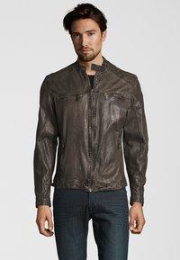 Capitano - Leather jacket - grey - 1