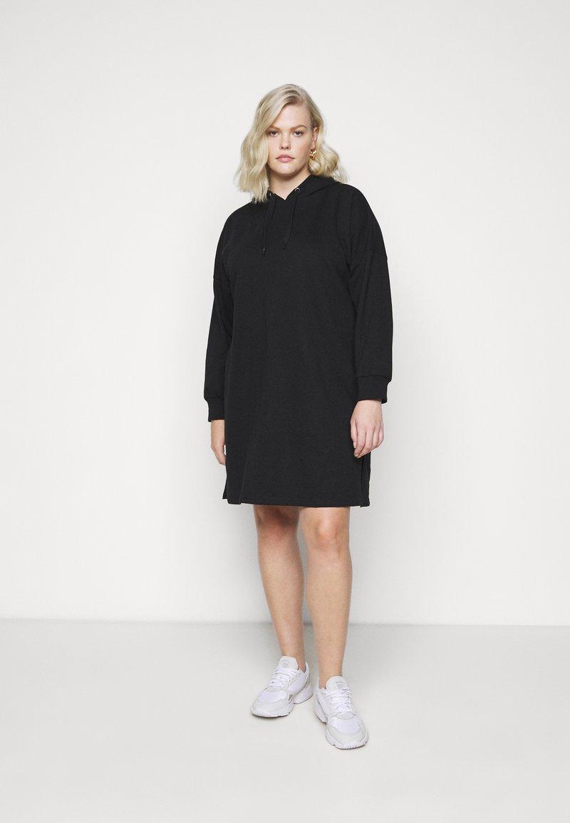 Even&Odd Curvy - Denní šaty - black