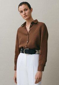 Massimo Dutti - Koszula - brown - 0