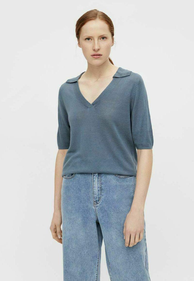 Mujer MIT KURZEN ÄRMELN GESTRICKT - Camiseta básica