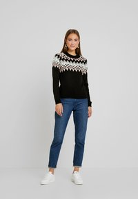 Anna Field - Strickpullover - black - 1