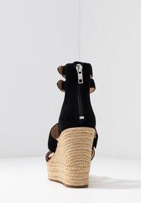 UGG - KOLFAX - Sandály na vysokém podpatku - black - 5
